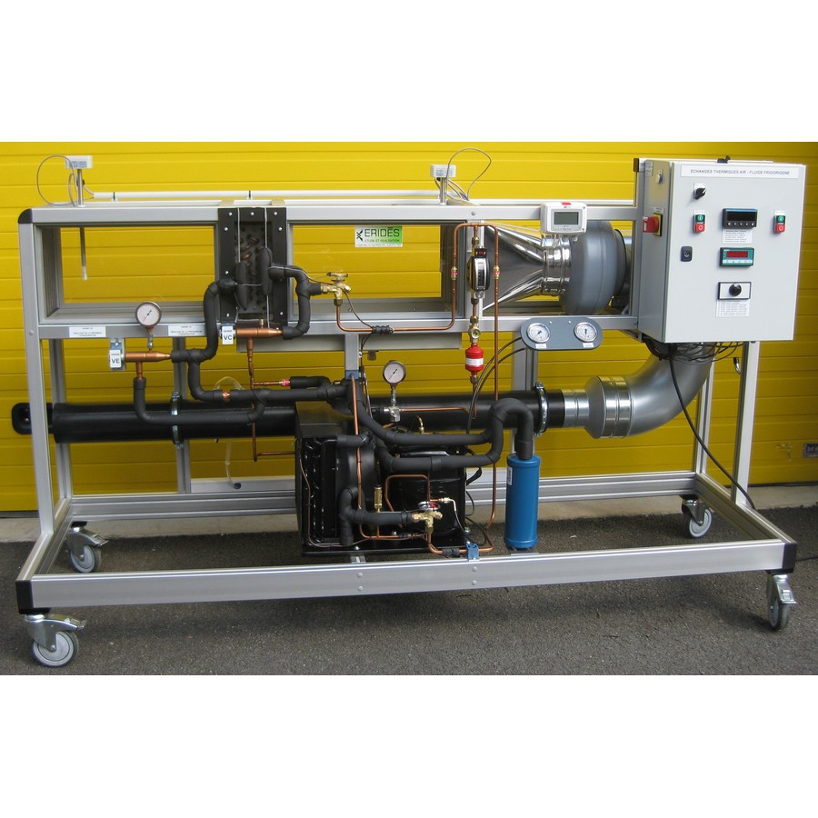 Etude d'un échangeur Air / Fluide Frigorigène [Condensation et Evaporation]