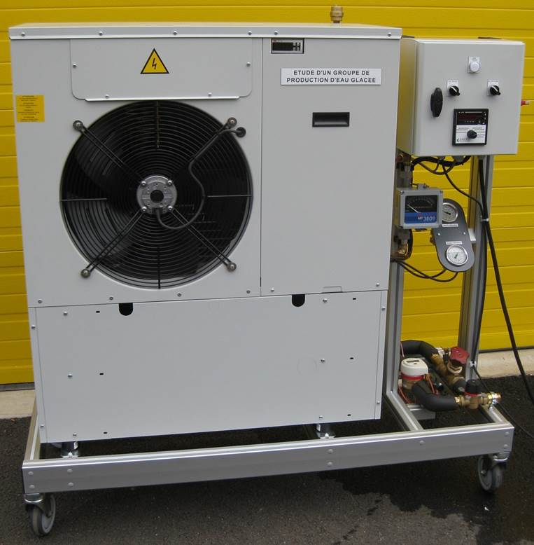 Study of air-cooled water chiller