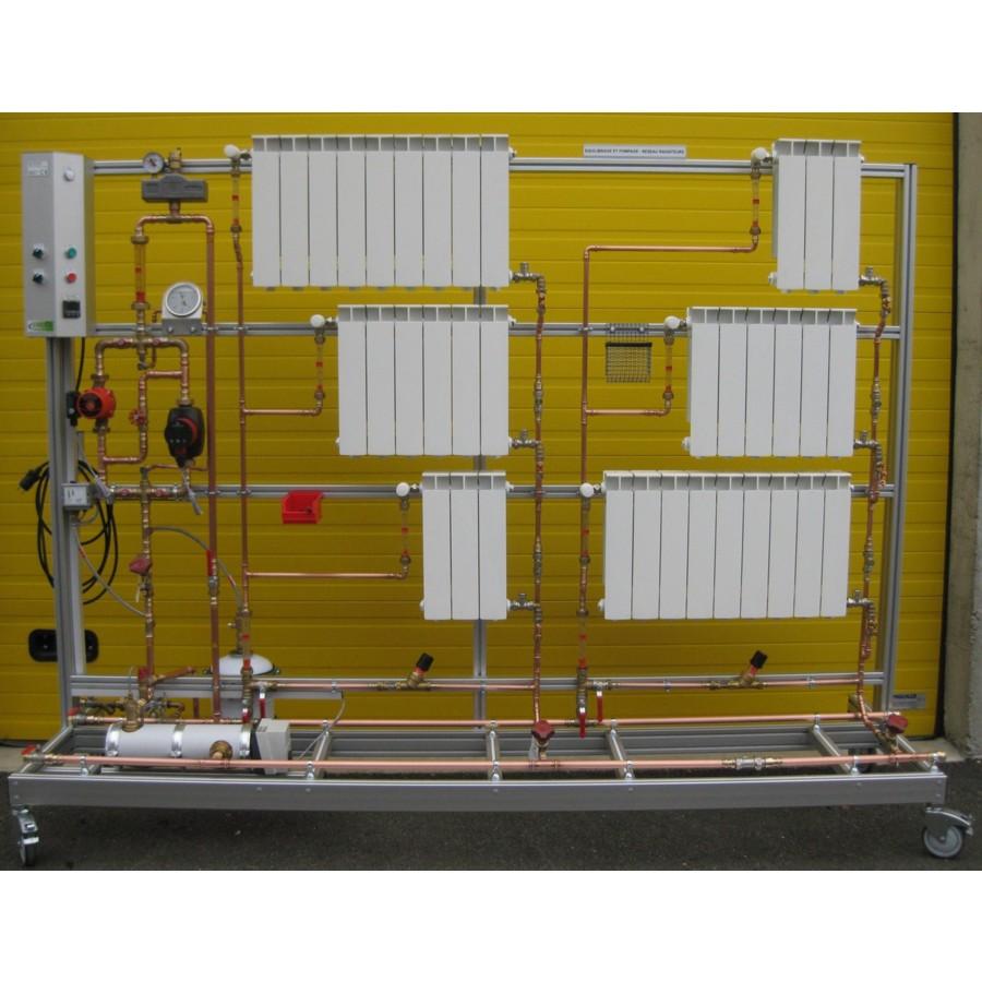 Equilibrage pompage et chauffage circuit radiateurs