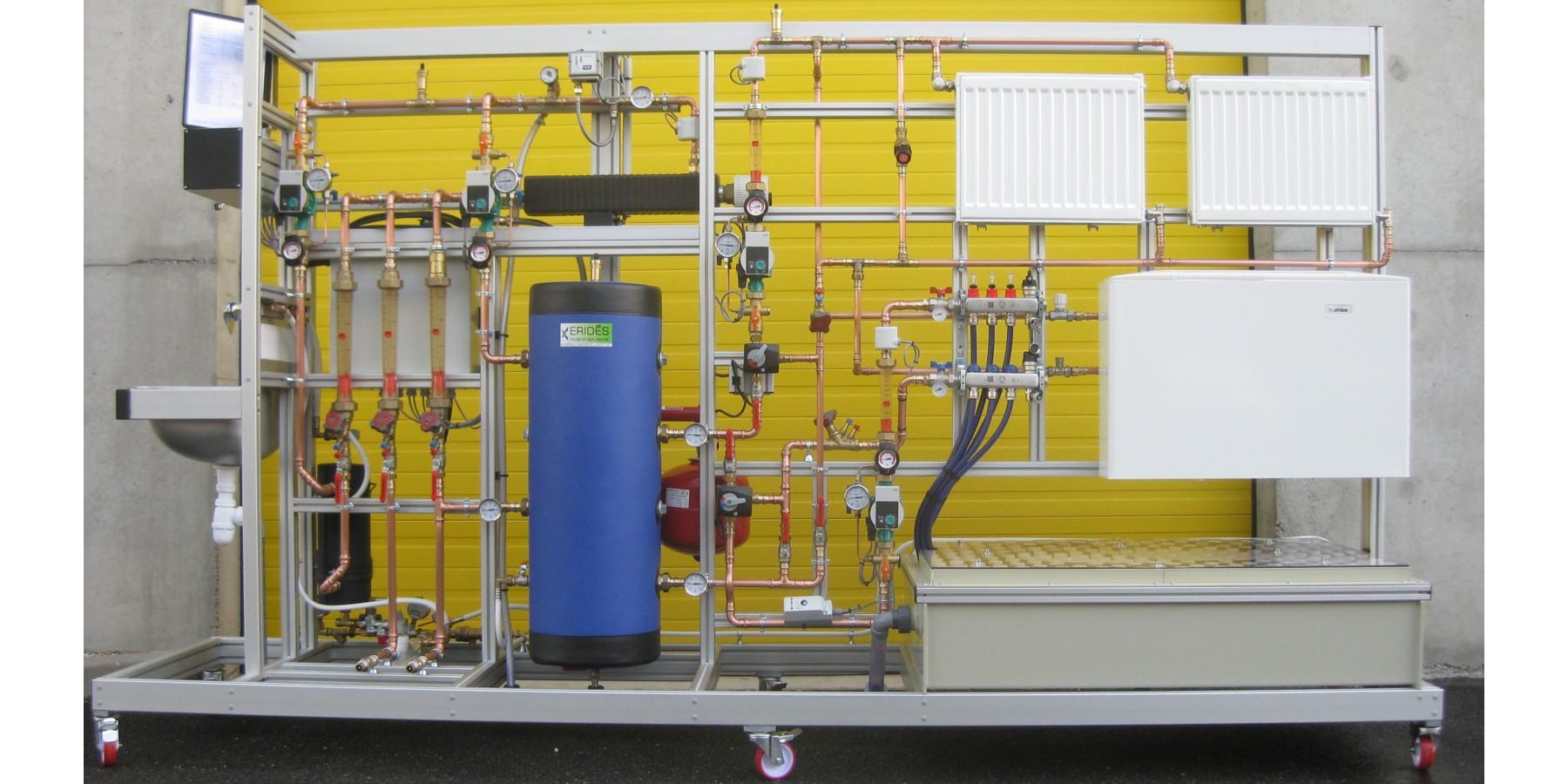 Banc Installation de chauffage et régulation