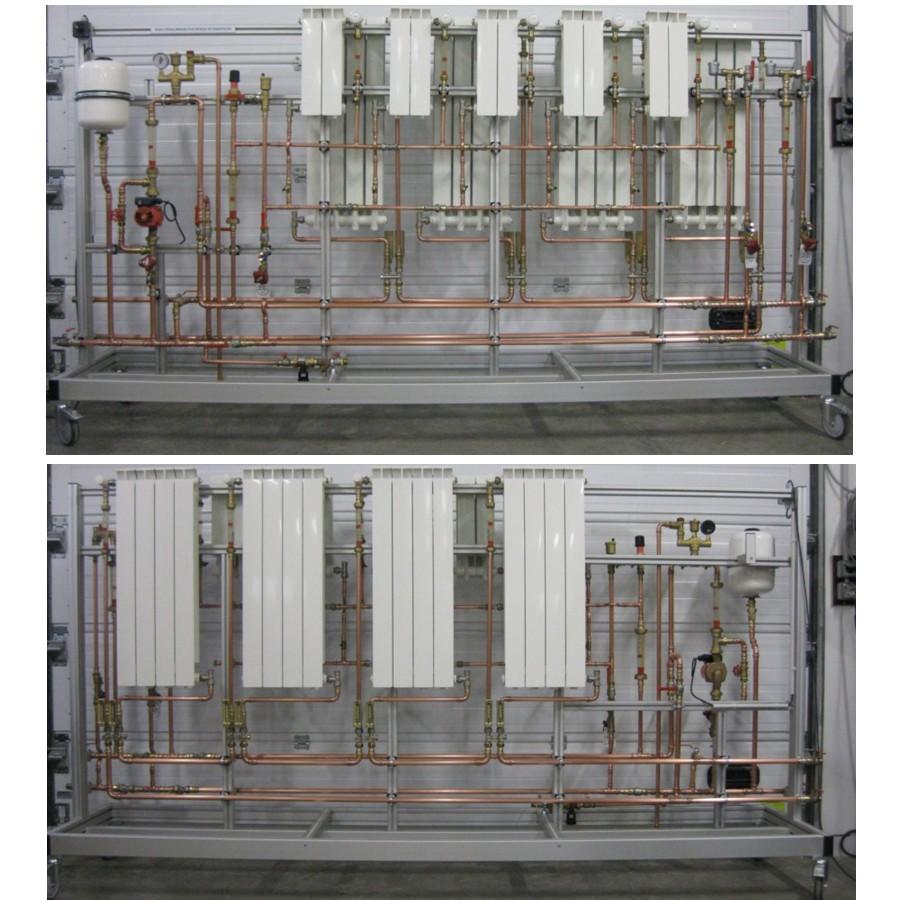 Banc de radiateurs montage bitube et monotube
