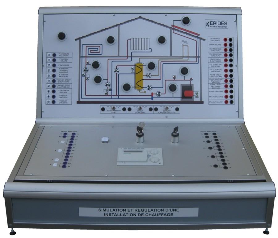 Banc de simulation et régulation d'une installation de chauffage