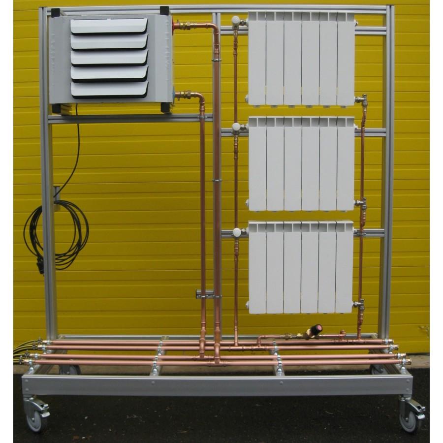 Banc d'émetteurs : Radiateurs + Aérotherme