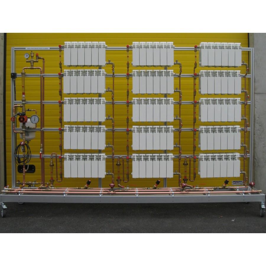 Equilibrage réseau 3 colonnes de 5 radiateurs
