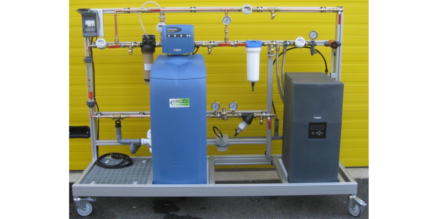 Banc d'osmose inverse sur eau adoucie